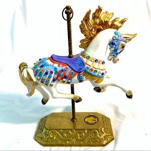 VINTAGE 1987 PORCELAIN CAROUSEL HORSE Ltd Edition